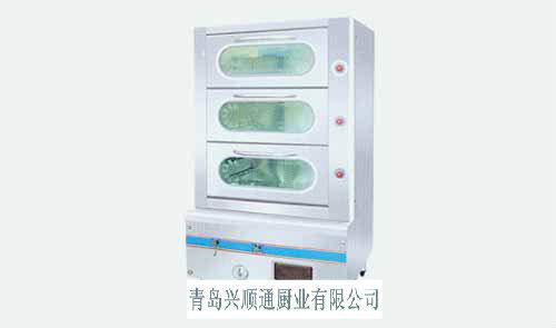 青岛厂家直销大量供应优质三门可视海鲜蒸柜